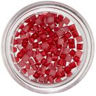 Squares for Nail Decoration - Red, Pearl Effect