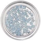 Nail Art Light Blue Decorations - Square, Pearlescent