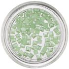Pearl Decorations in Shape of Square - Light Green