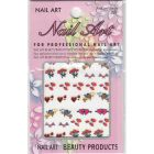 Valentine 3D nail art sticker - hearts, cupid, flowers