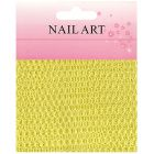 Decorative netting for nail art - yellow