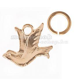 Golden Nail Dangle Charm Dove
